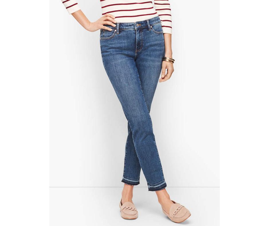 Talbots Slim Ankle Jeans - Dropped Hem - Conklin Wash