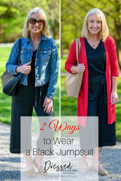 2 Ways to Wear a Black Jumpsuit