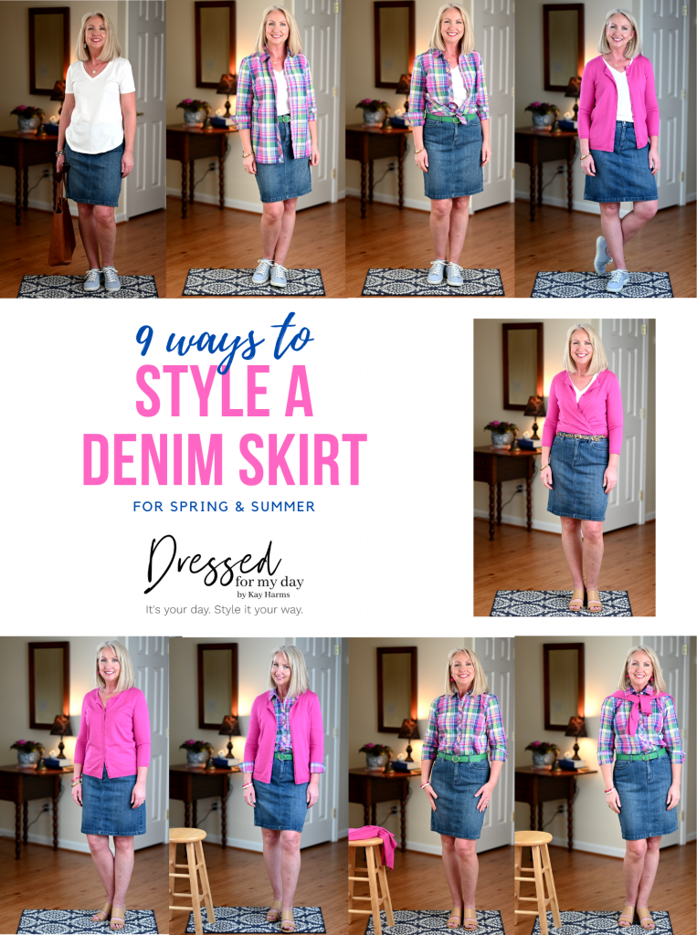 9 Ways to Style a Denim Skirt