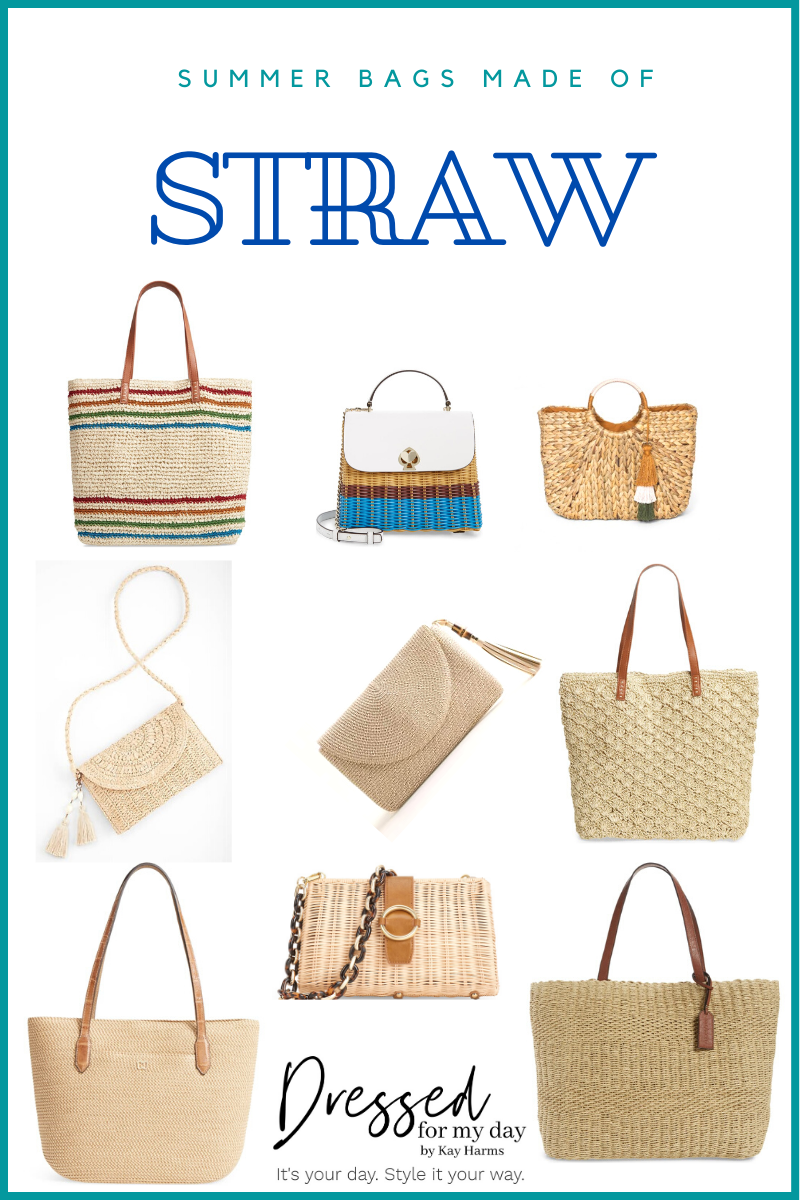Summer Bags Made of Straw