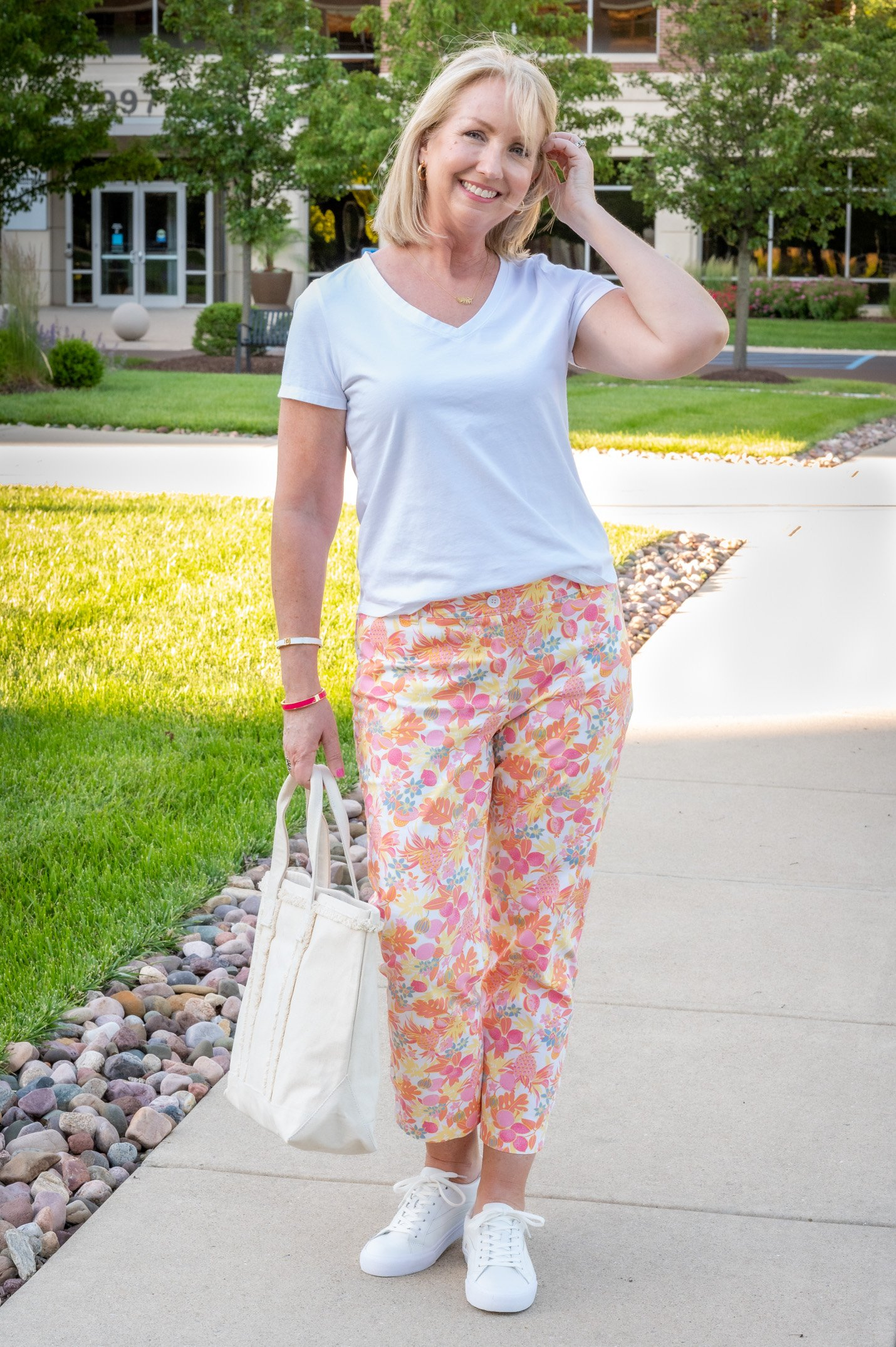 Fruit and Floral Crop Pants