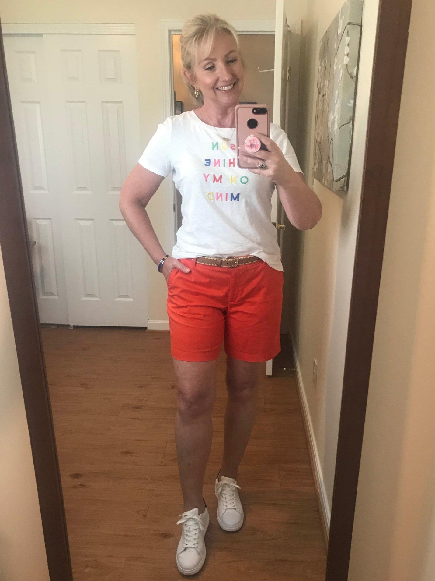 Orange Shorts and Tee