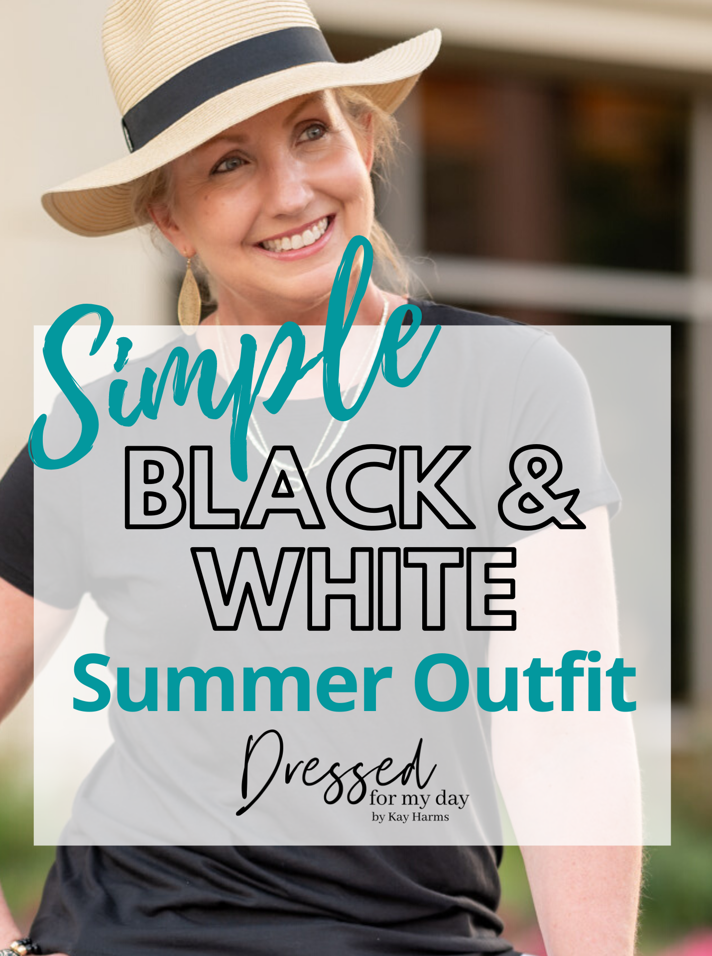 Simple Black & White Summer Outfit