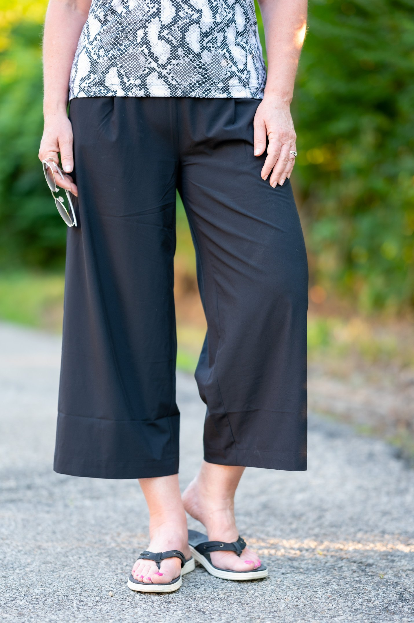 Brooklyn Wide Leg Crop Pants