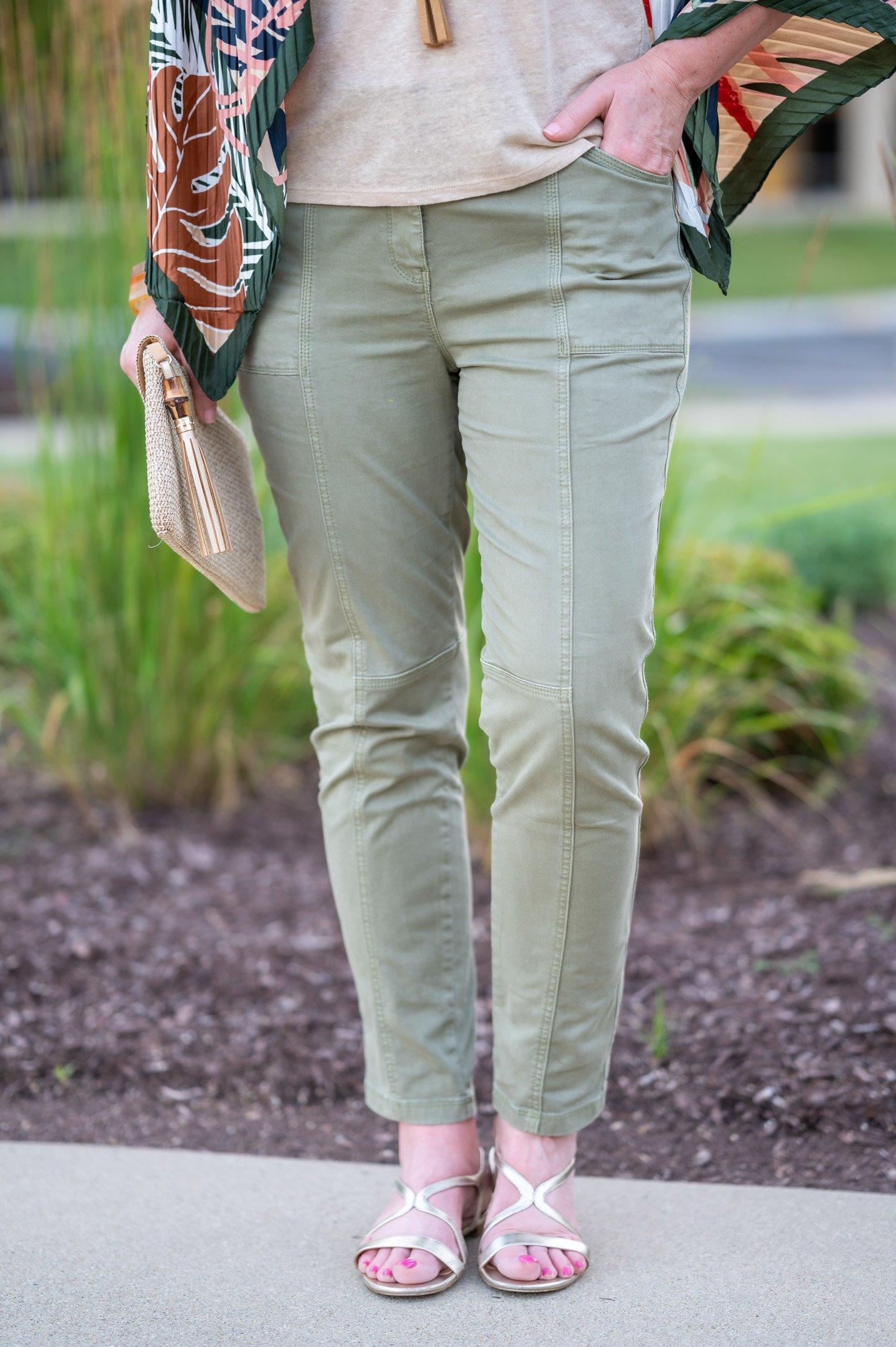 slim utility pants