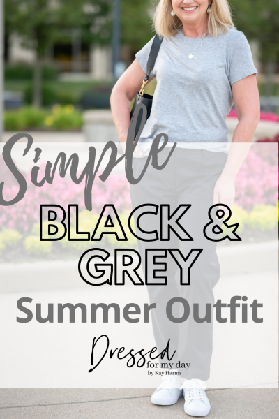 Simple Black & Grey Summer Outfit