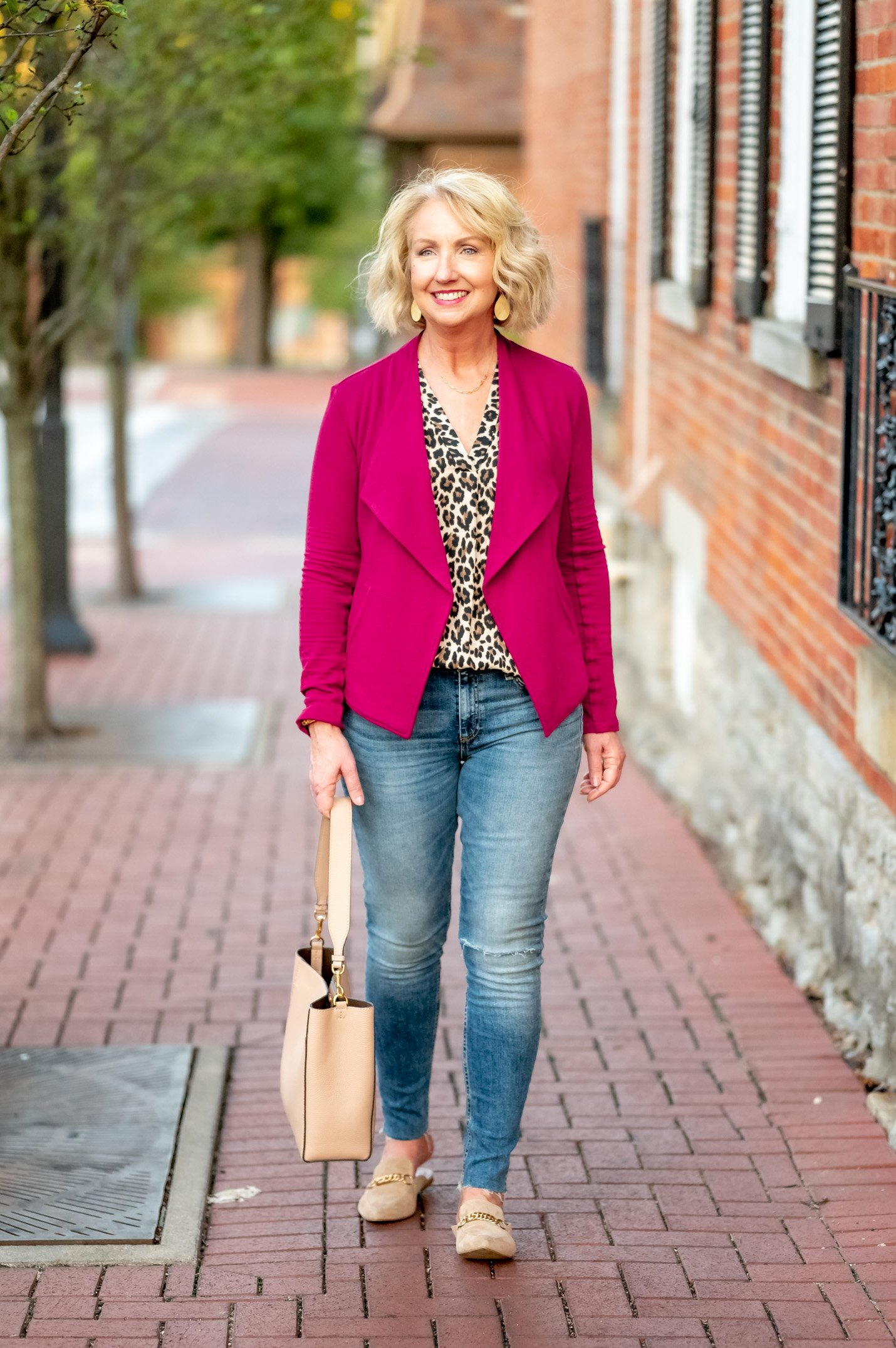 Wear Later Leopard Print Blouse