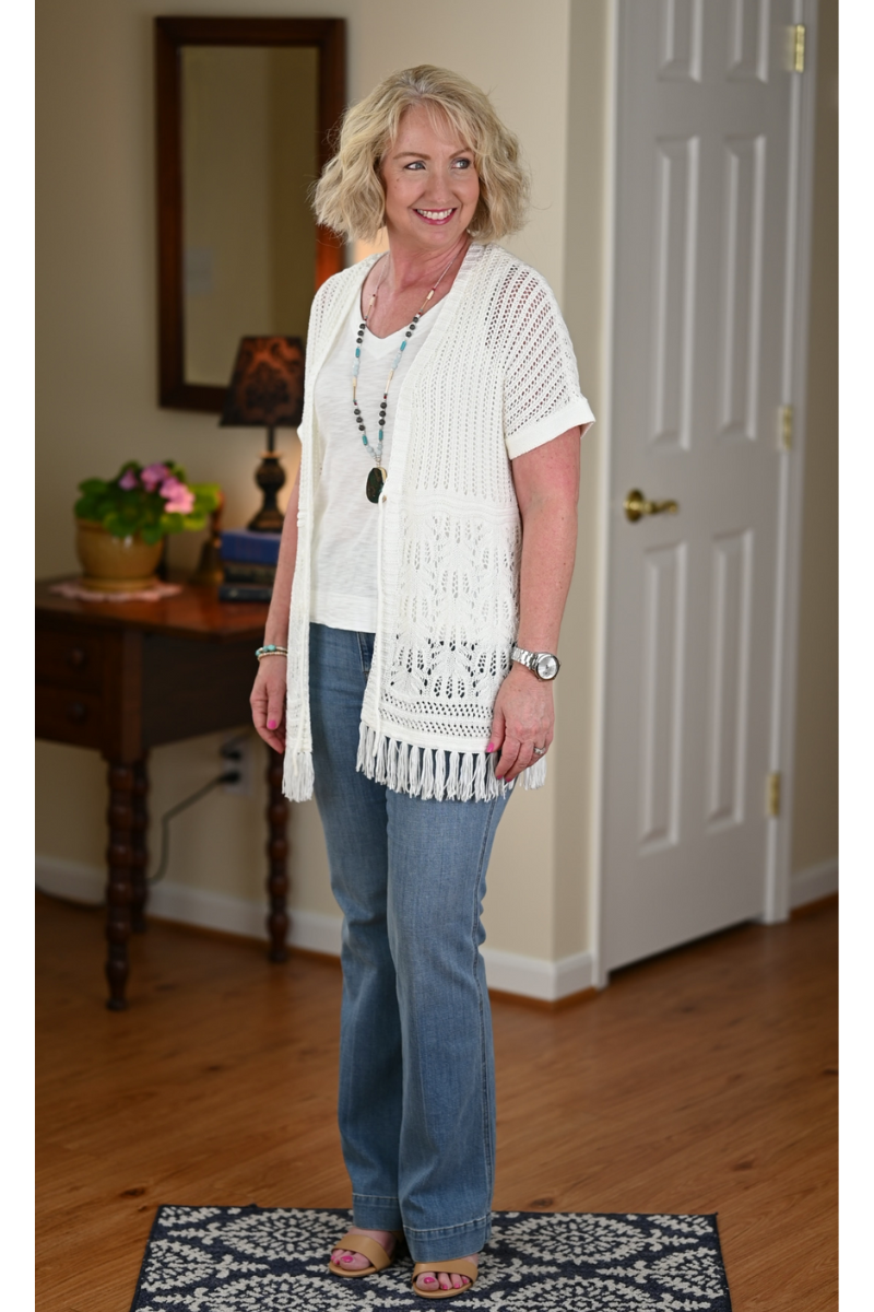 9 Ways to Wear 1 White Tank Top this summer - Styling Wardrobe Essentials for Summer - Styles for Women over 50