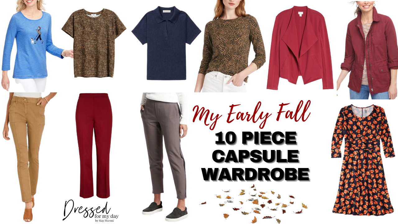 My Early Fall 10 Piece Capsule Wardrobe