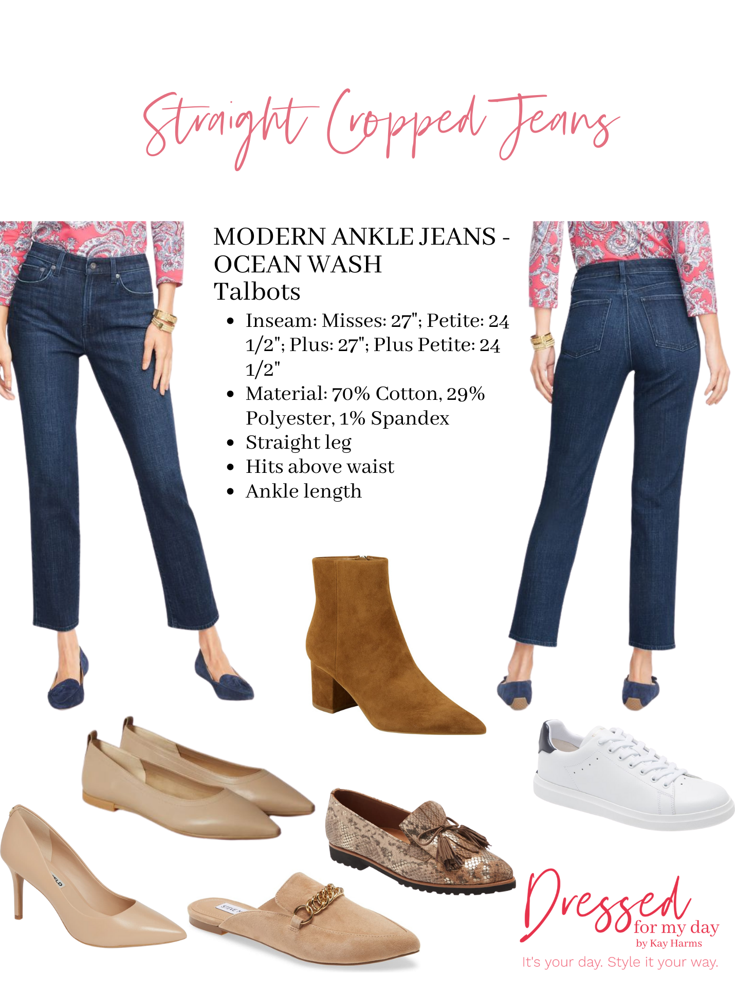 Shoes to Wear with Straight Leg Crop Jeans