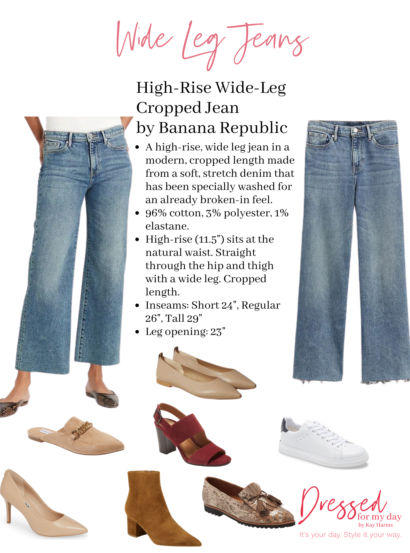 Shoes to Wear with Wide Leg Jeans