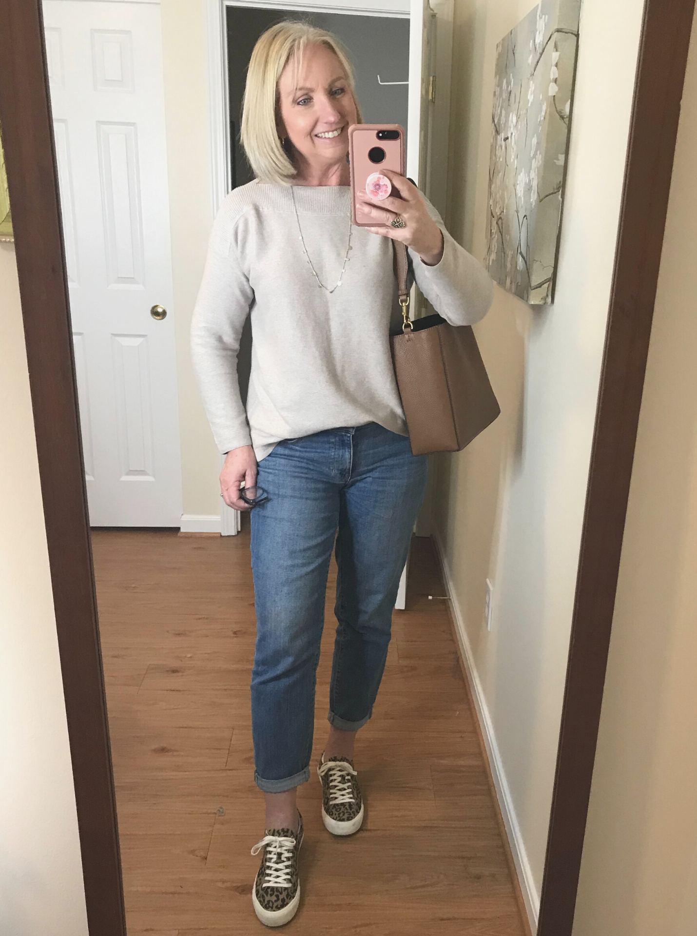 jeans and cotton sweater