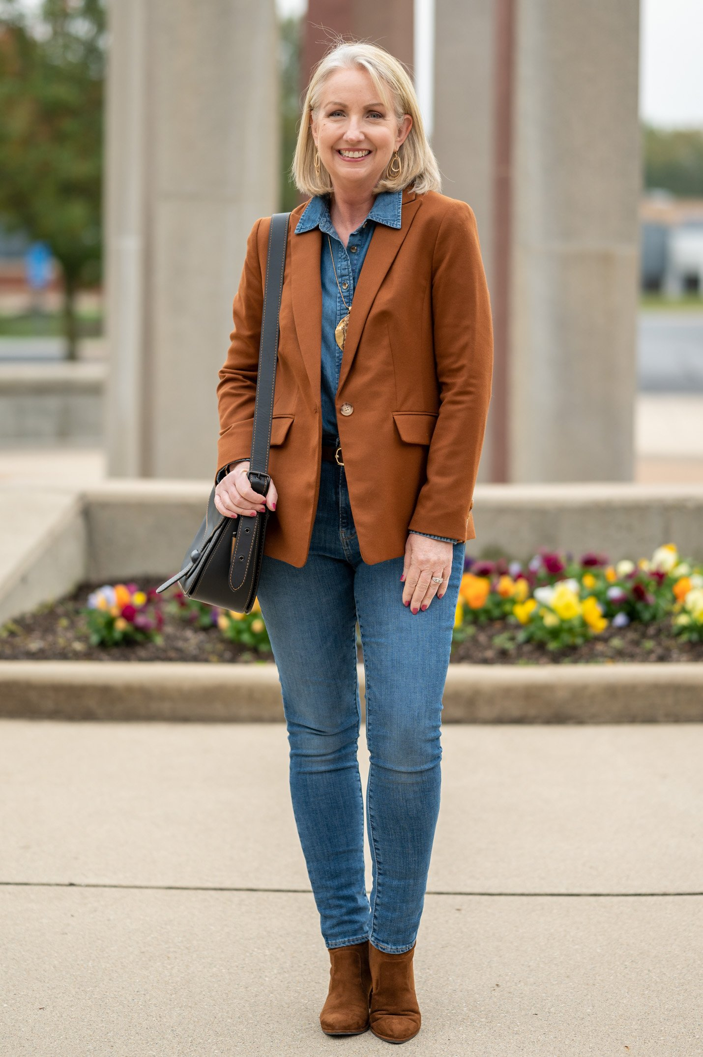 Styling a Column of Denim