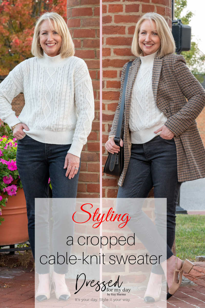 Styling a Cropped Cable-Knit Sweater with Kay Harms - Styles for Women Over 50