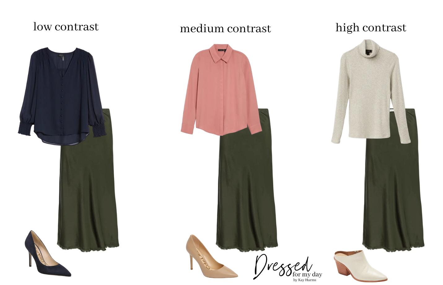 skirt contrast