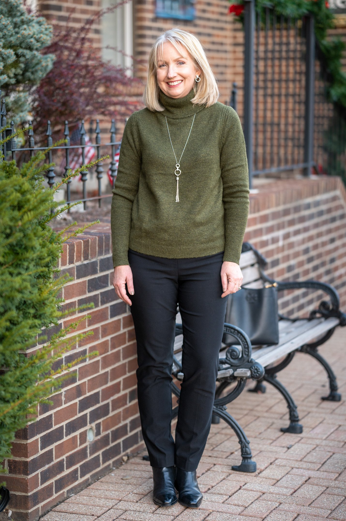 Sweater and Black Pants