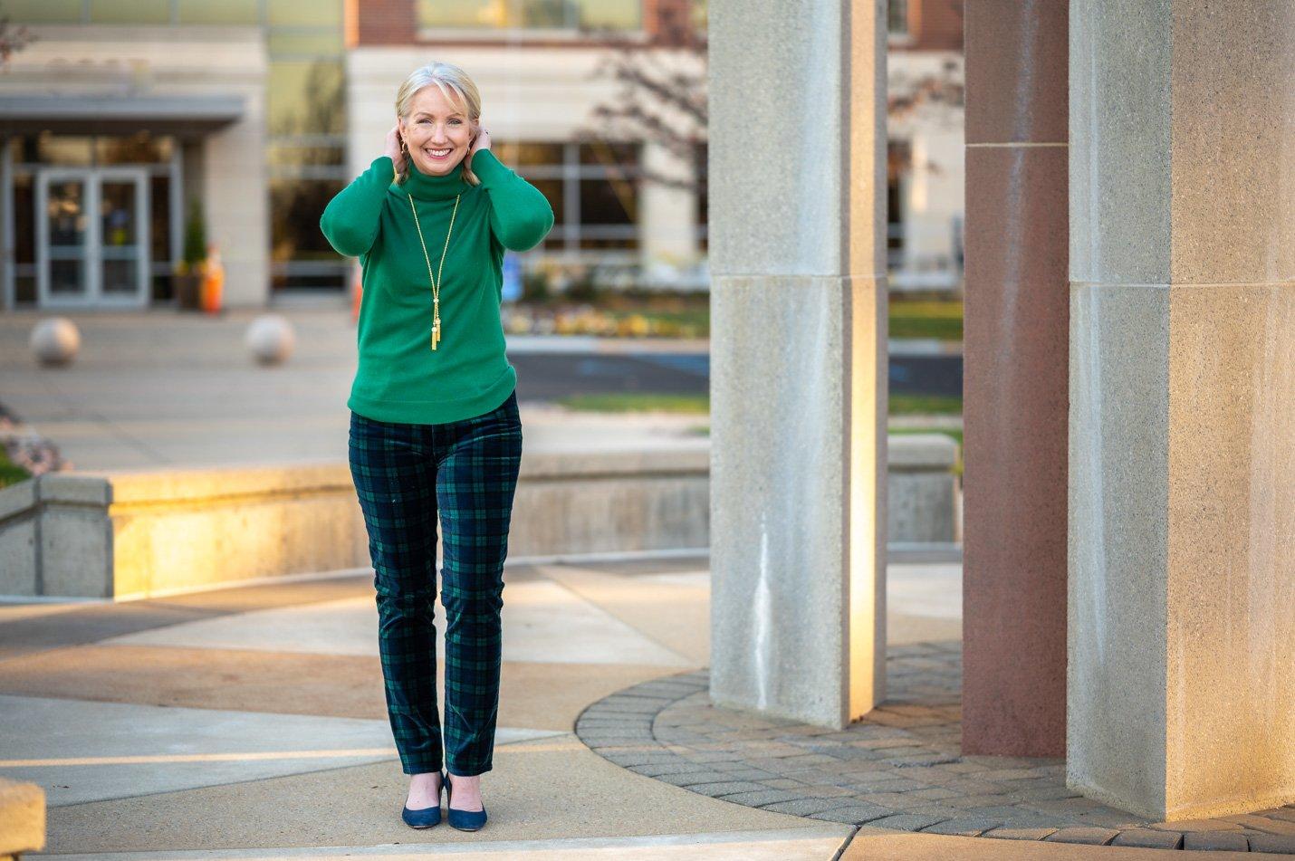Tartan Plaid Pants for Women over 50