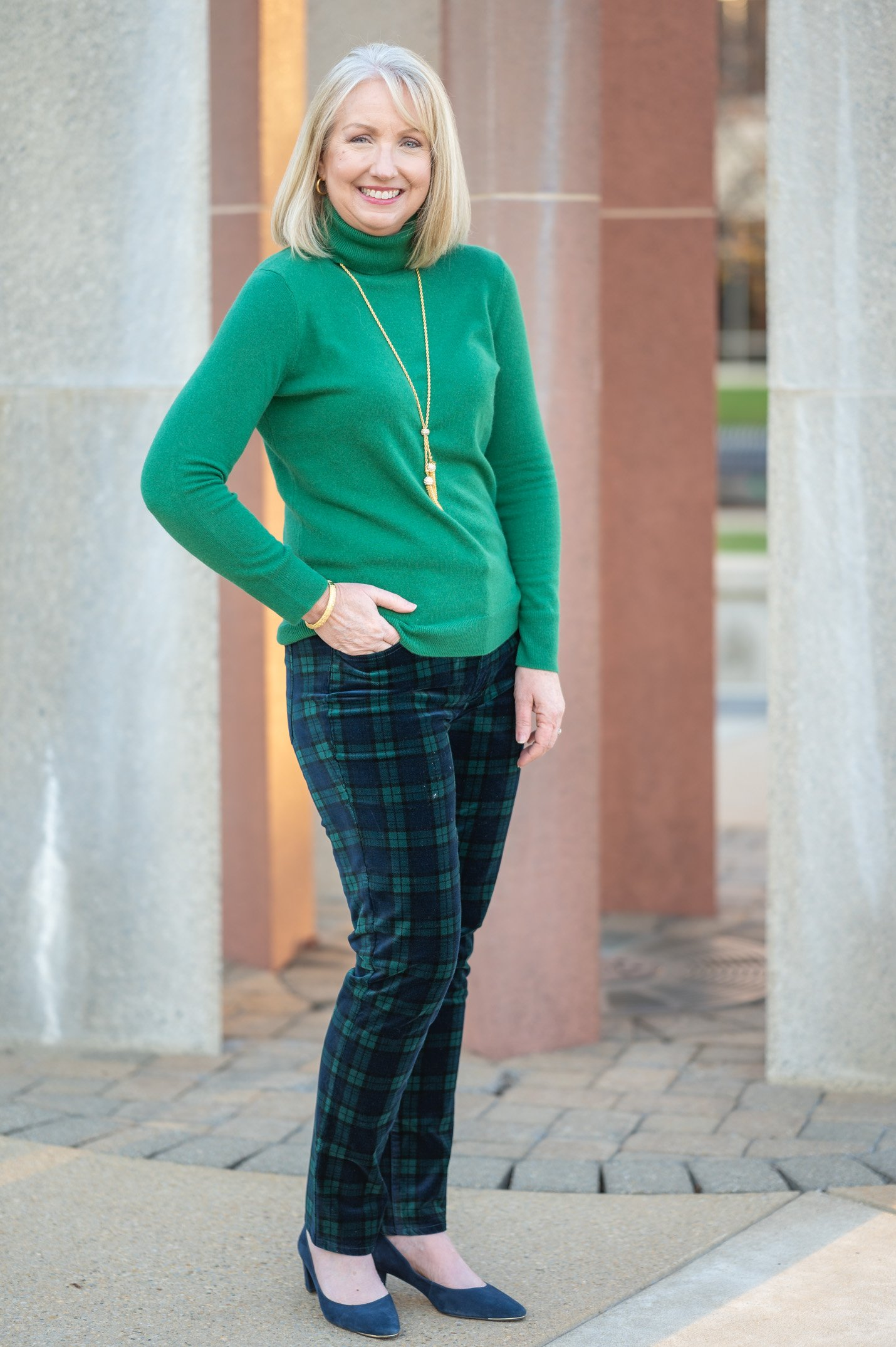 Tartan Plaid Outfit for the Holidays
