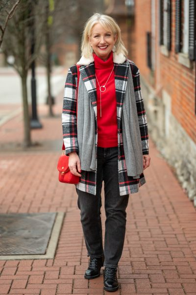 Winter Classics Look with Splashes of Red