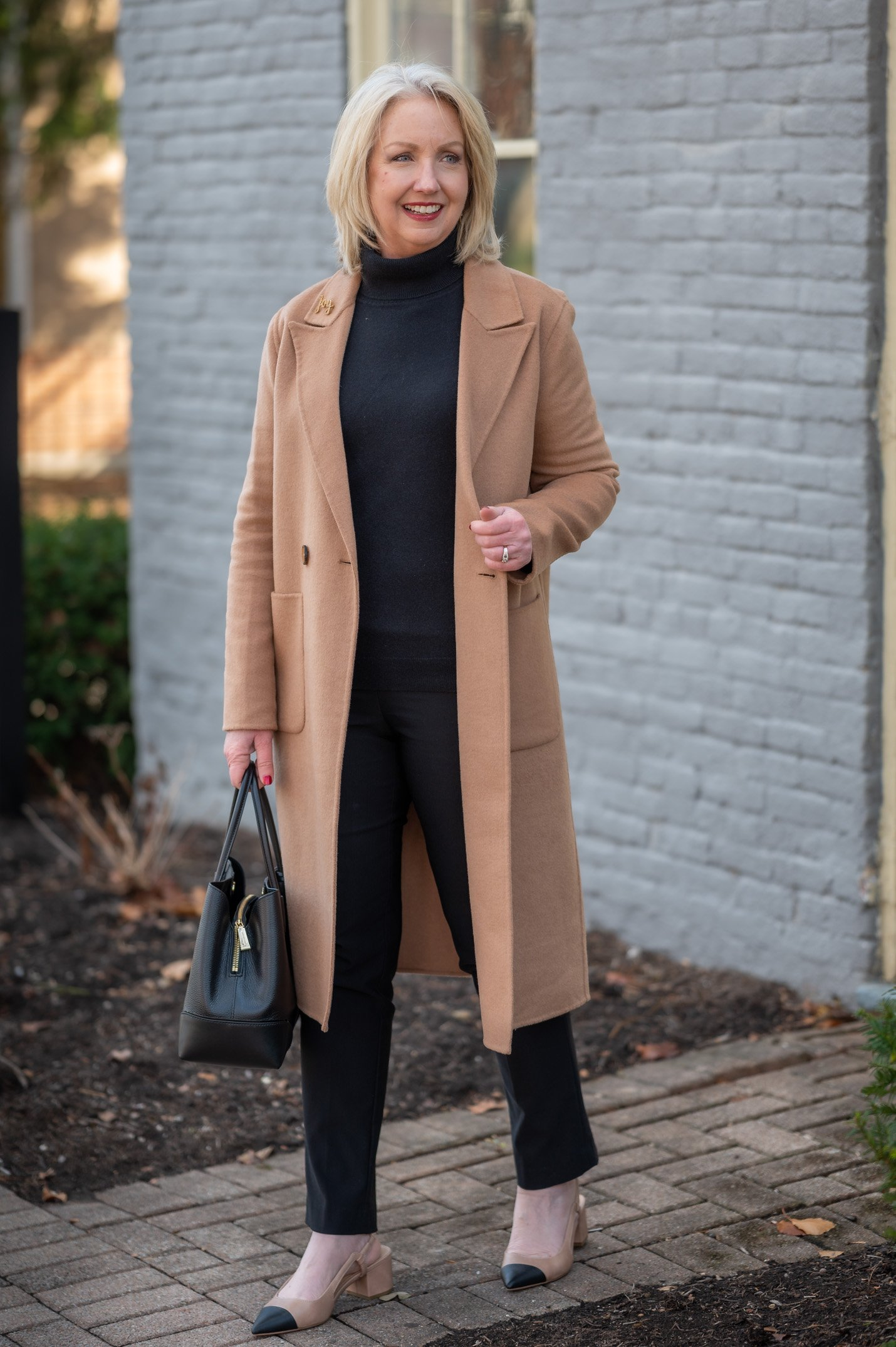 Winter Classics Outfit with a Column of Black