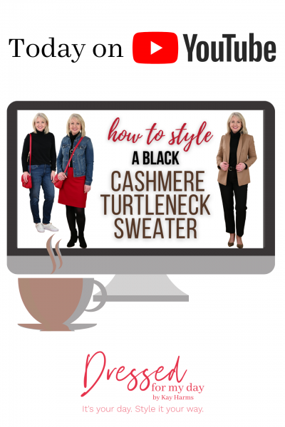 How to Style a Black Cashmere Turtleneck Sweater