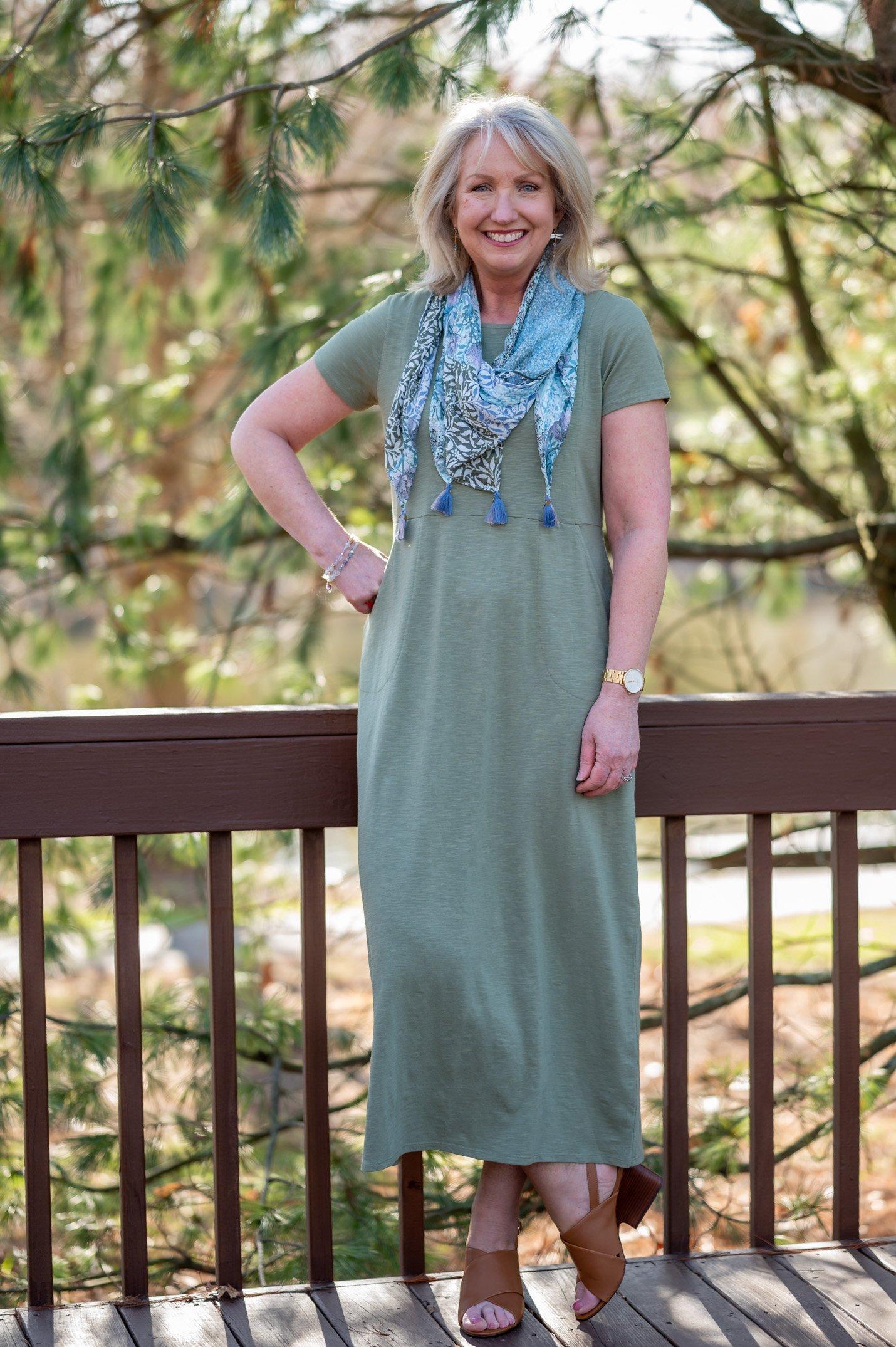 Seamed Maxi Dress