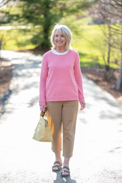 Sweatshirt and Cropped Chinos