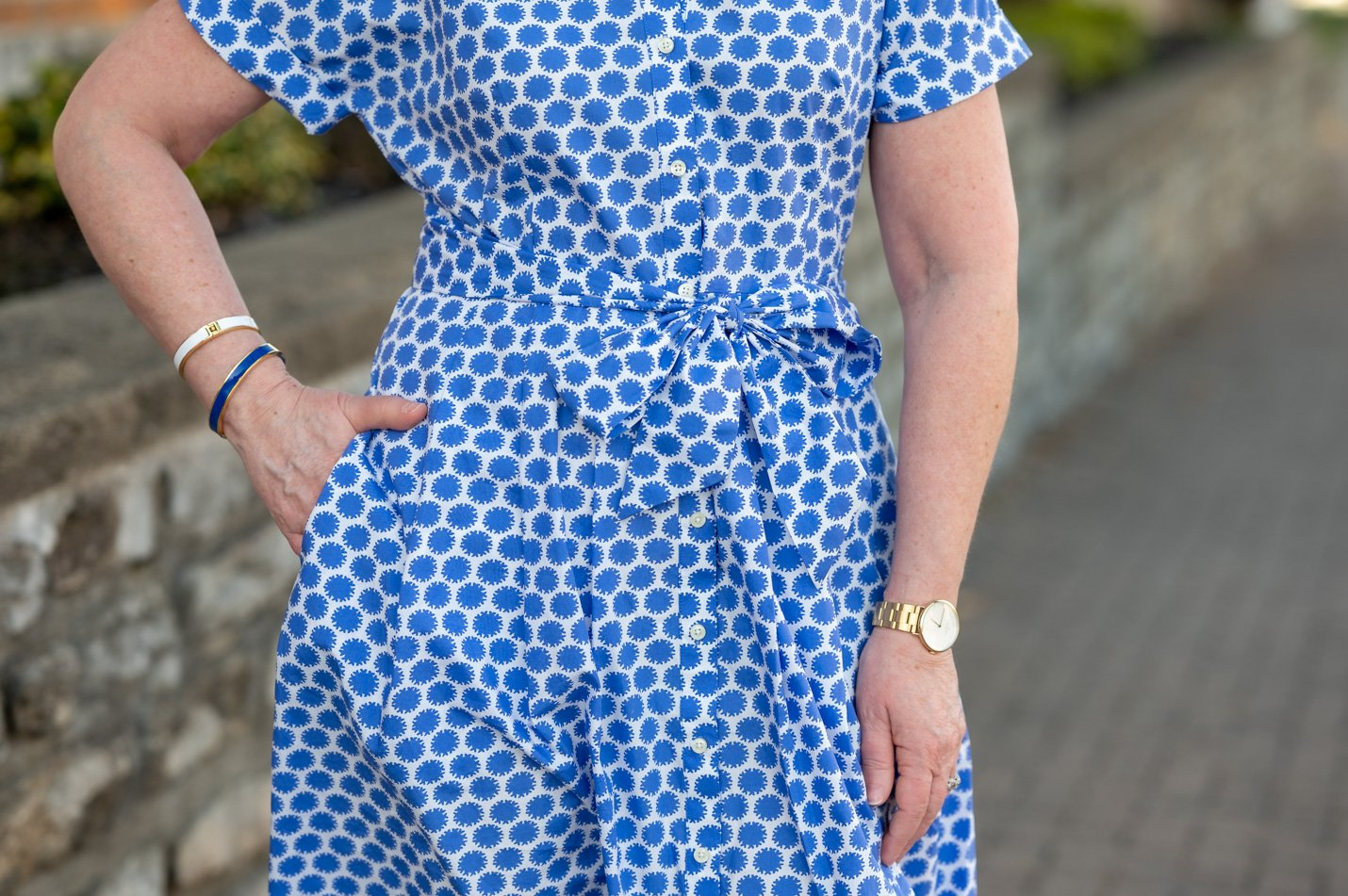 Blue Shirtdress