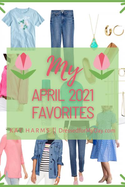 April Favorites Header