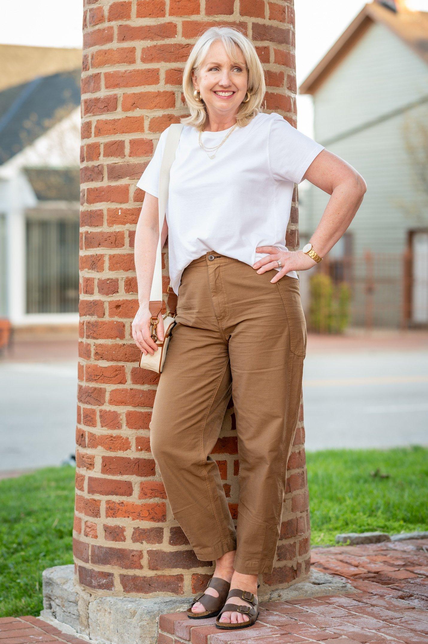 Barrel Pants with Sandals