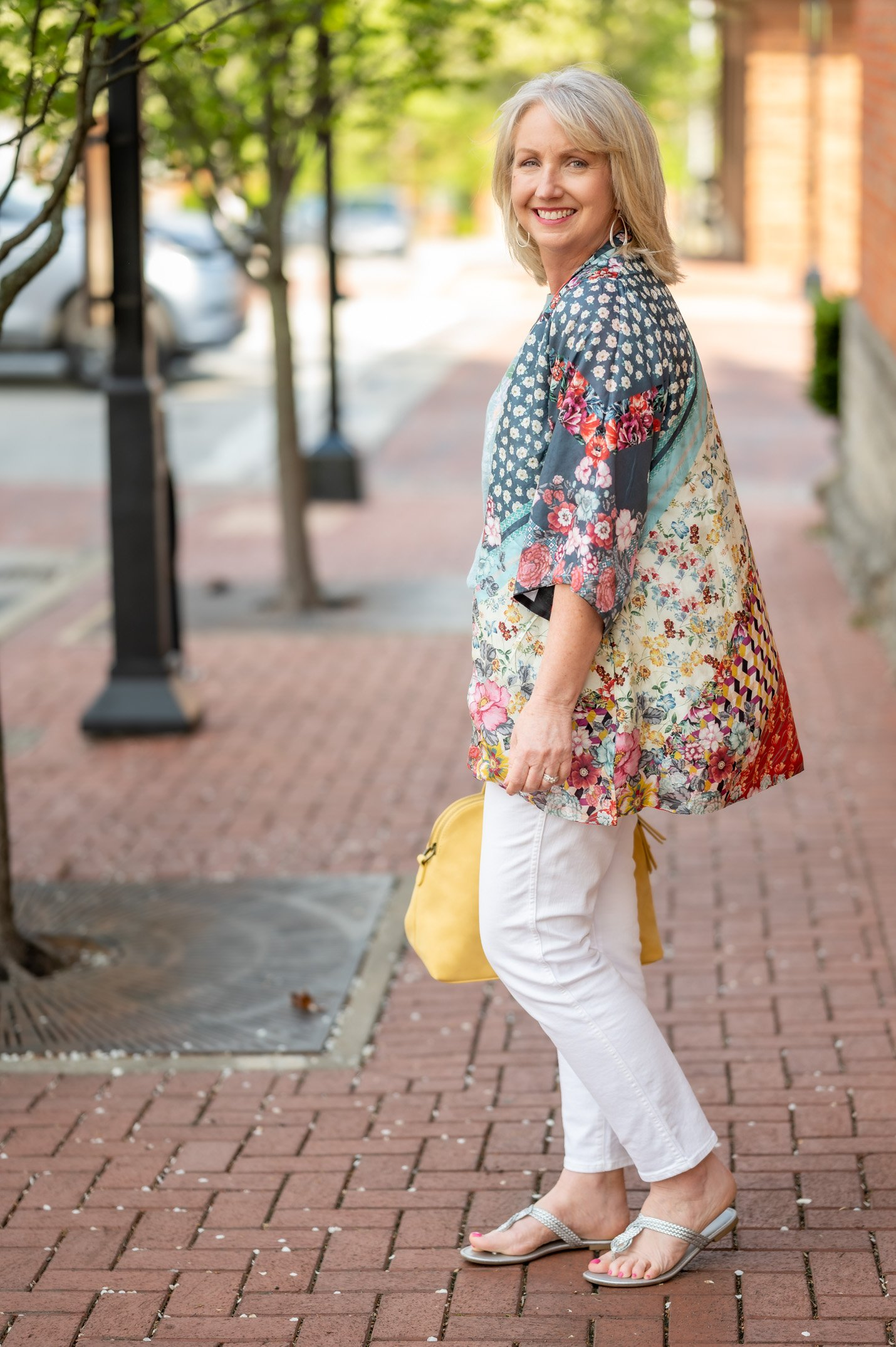 Graphic Tee and Floral Kimono for Spring