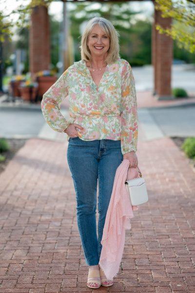 Feminine Spring Blouse + Jeans