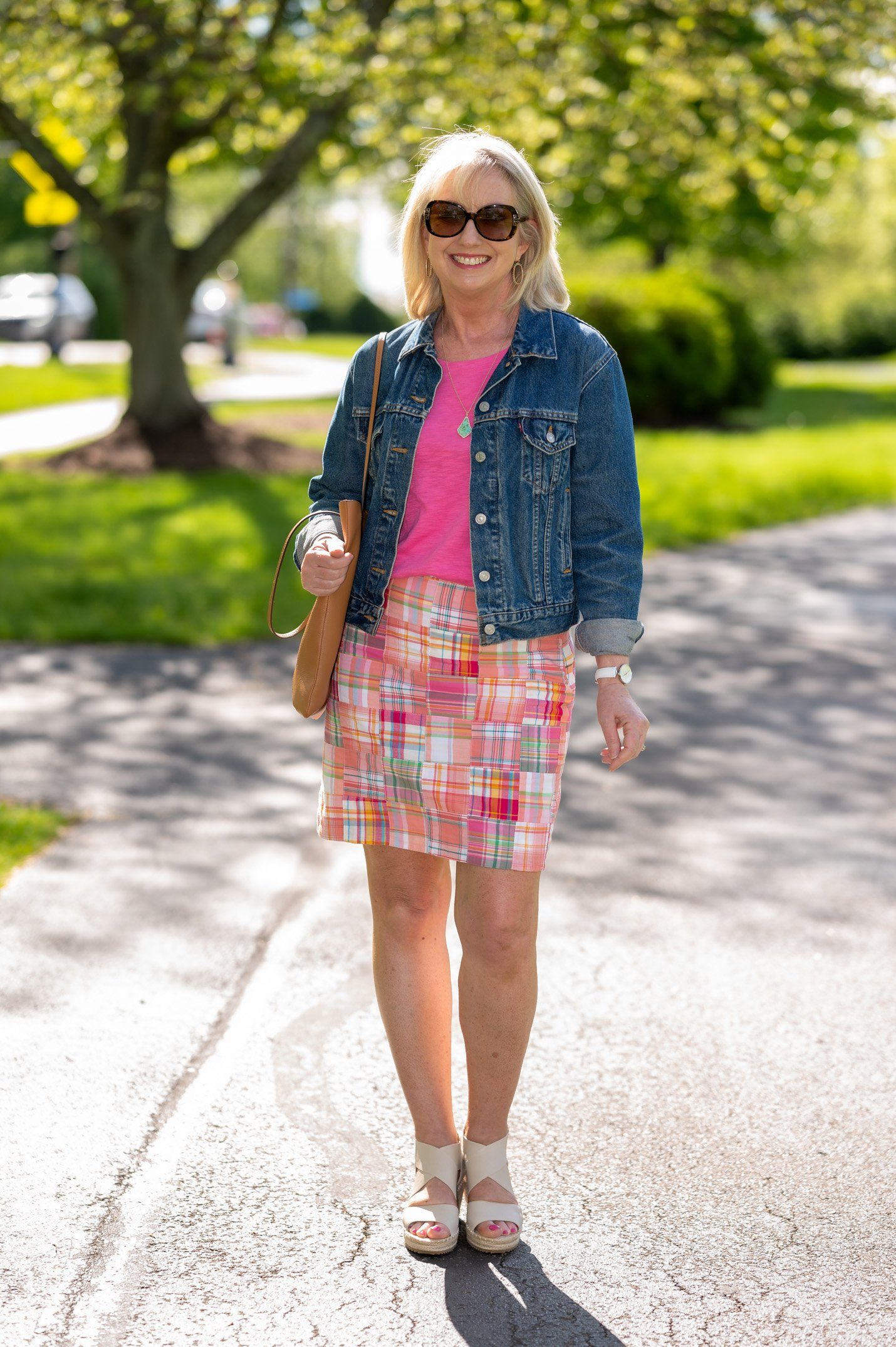 Colorful Skirt with Colored Tee