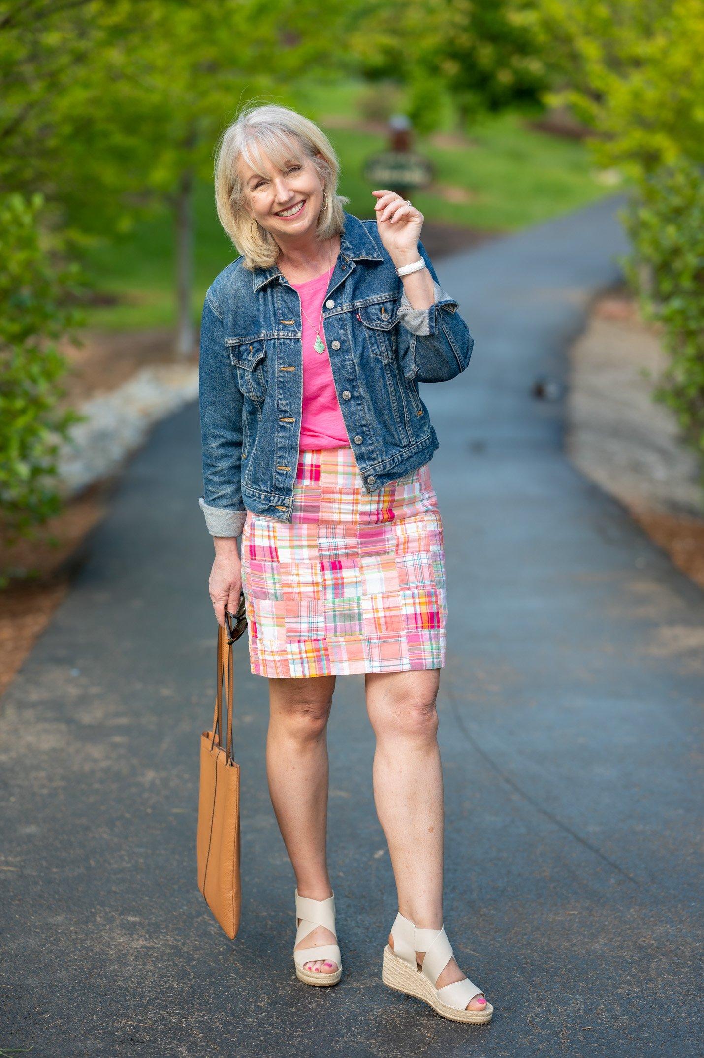 A-Line Patchwork Skirt