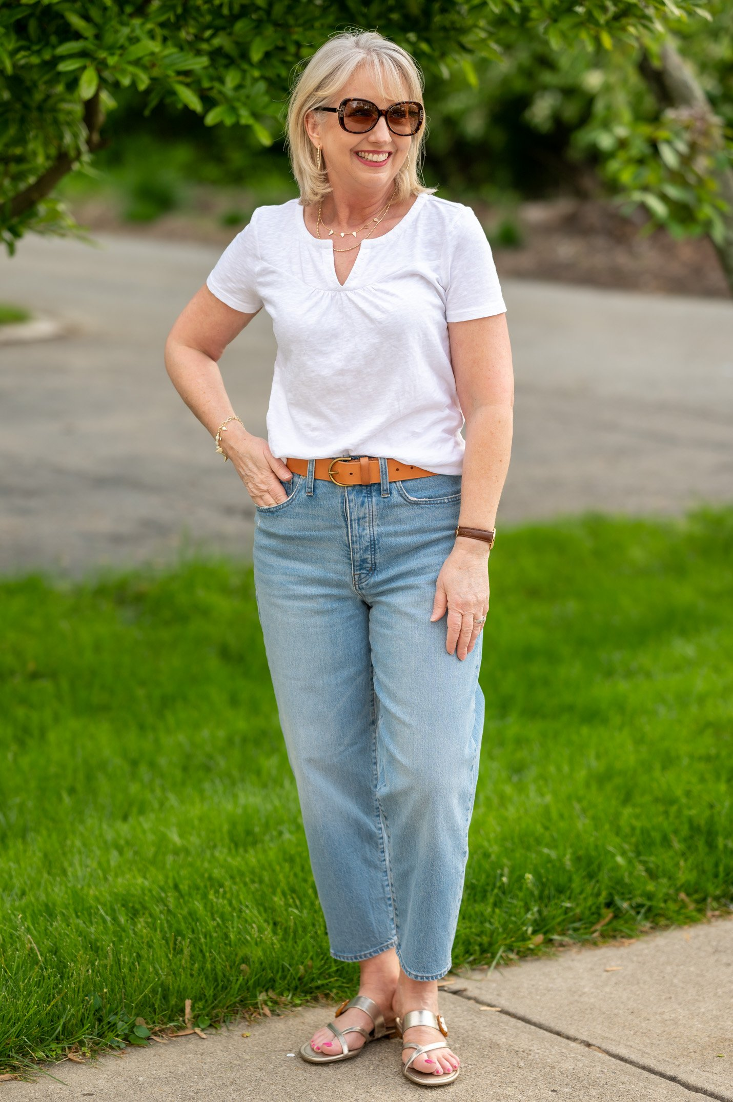 Just a White Tee and Jeans