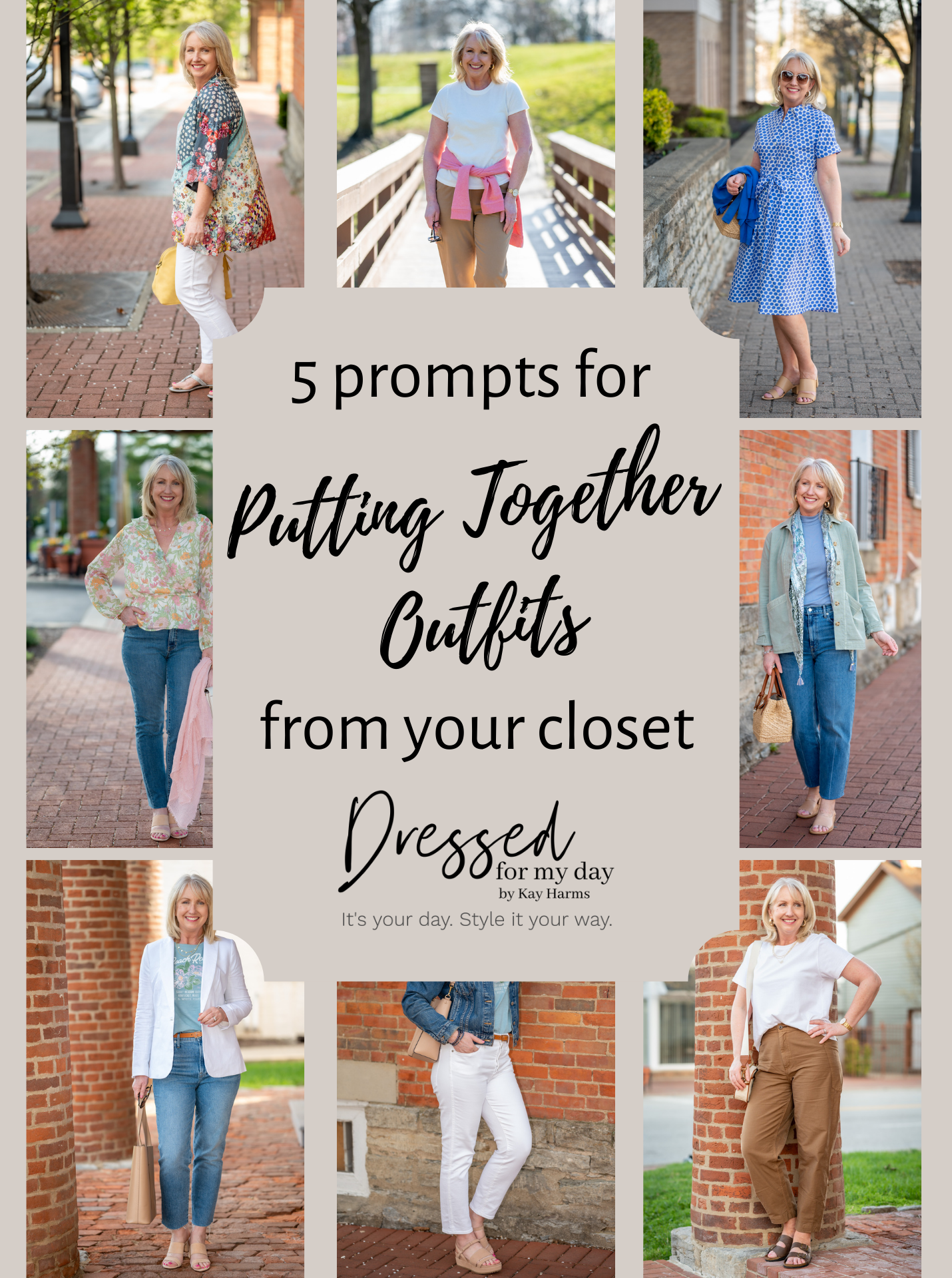 5 prompts for Putting Together Outfits from your closet