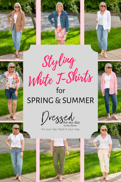 Styling White t-Shirts for Spring and Summer
