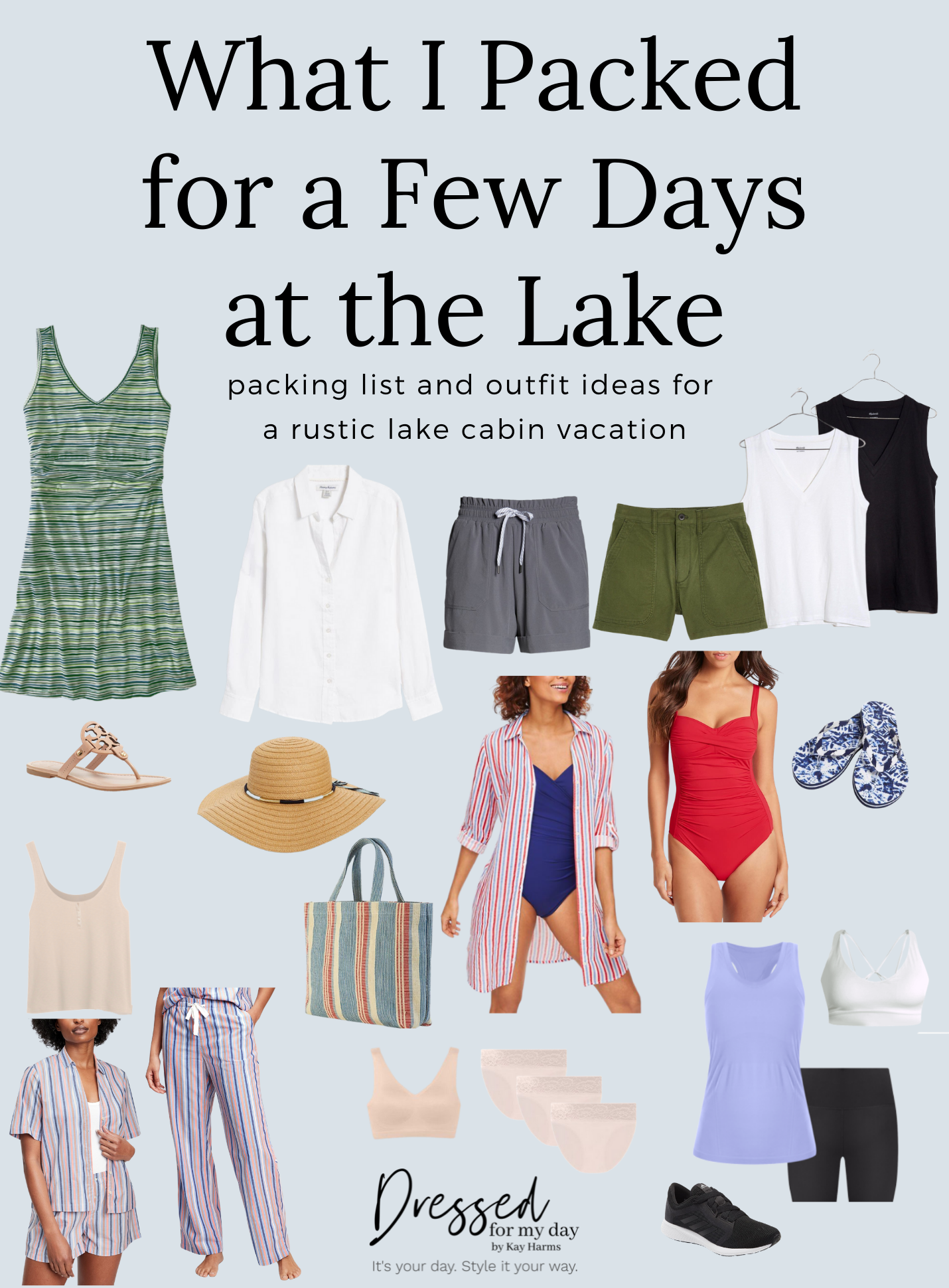 What I Packed for a Few Days at the Lake clothing