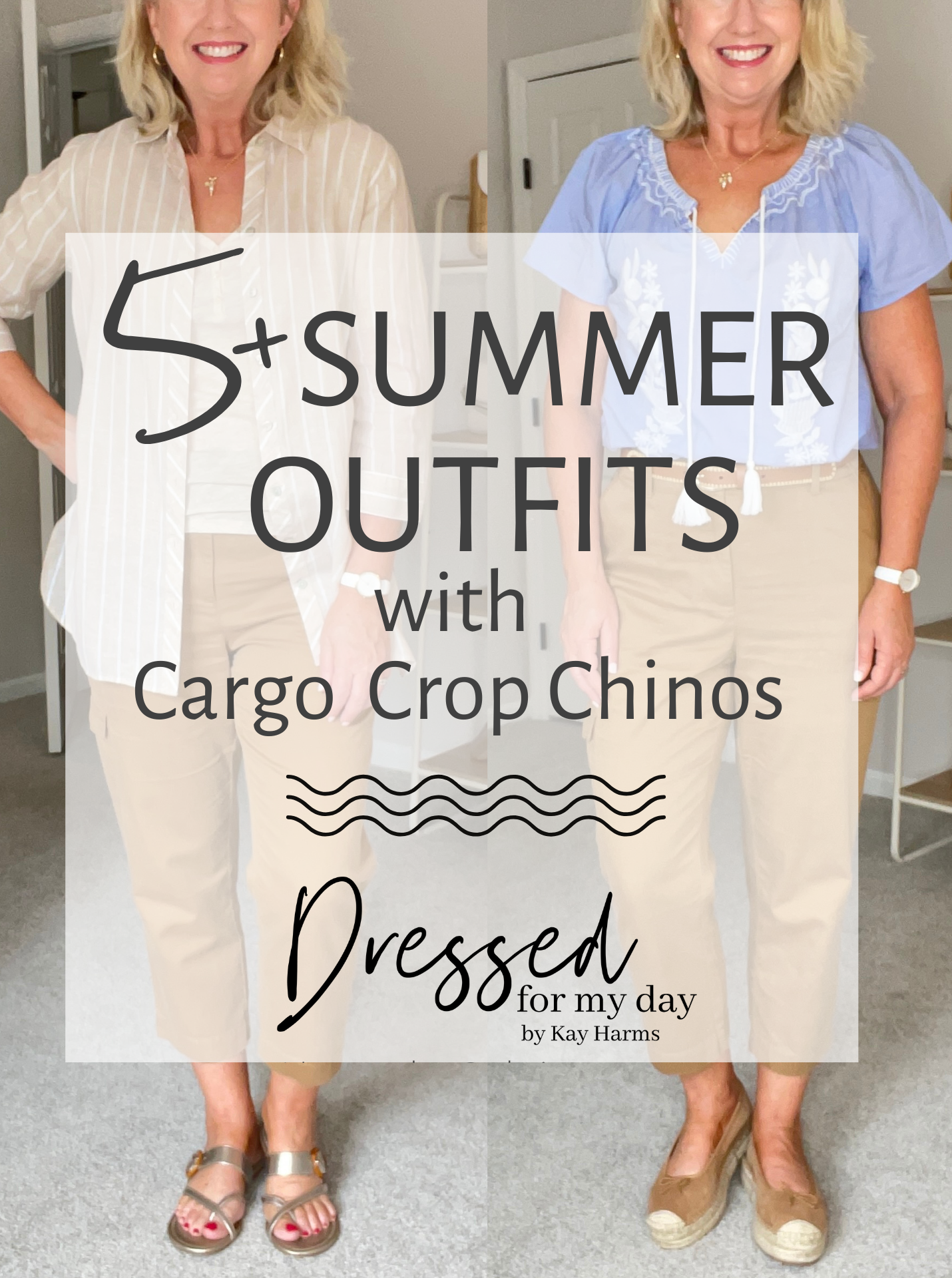 5+ Summer Outfits with Cargo Crop Chinos