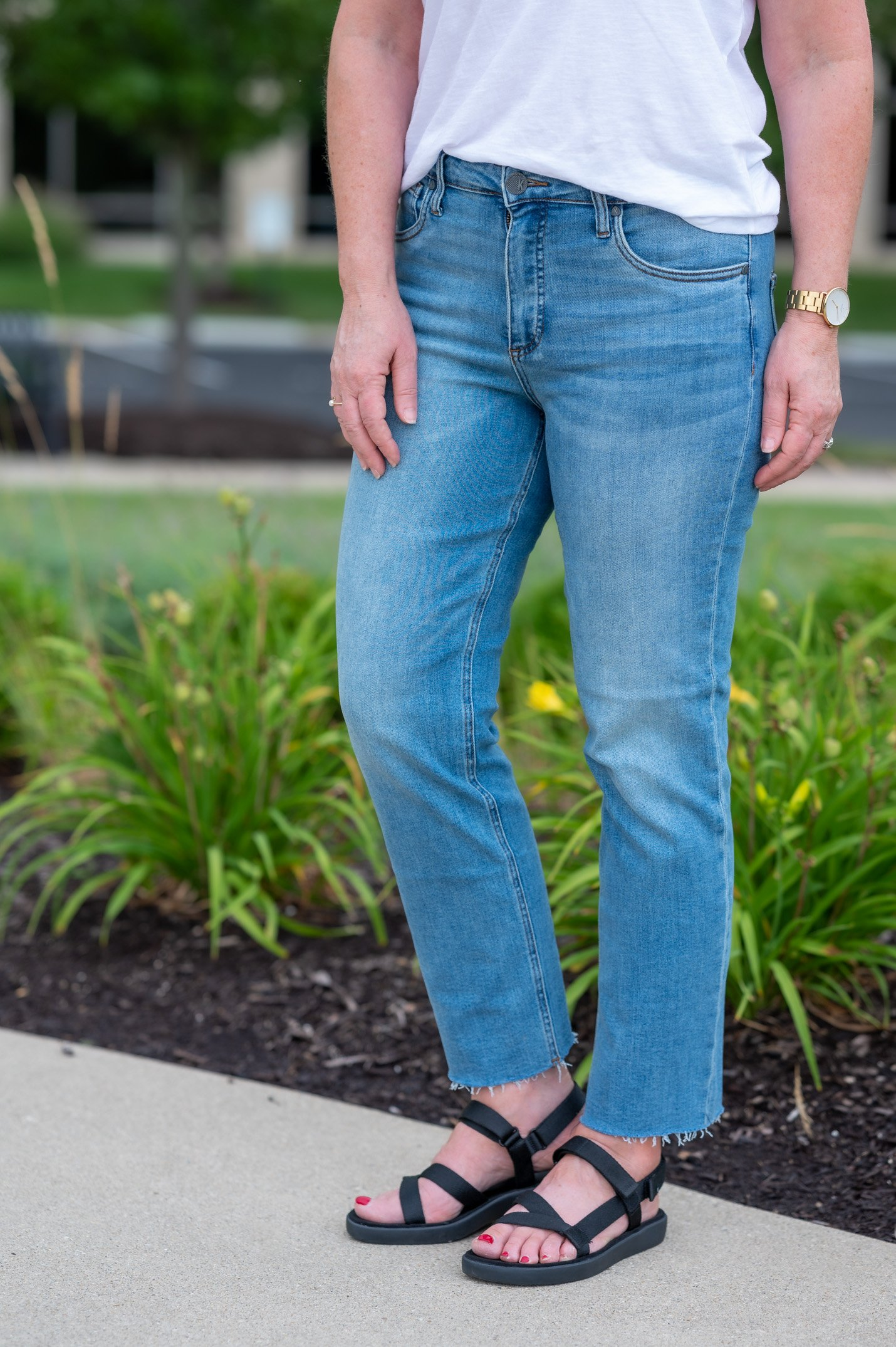 Comfort Sandals and Jeans