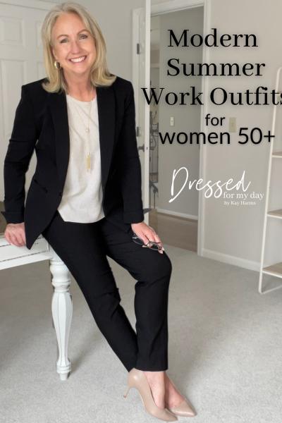 Modern Summer Work Outfits for Women 50+