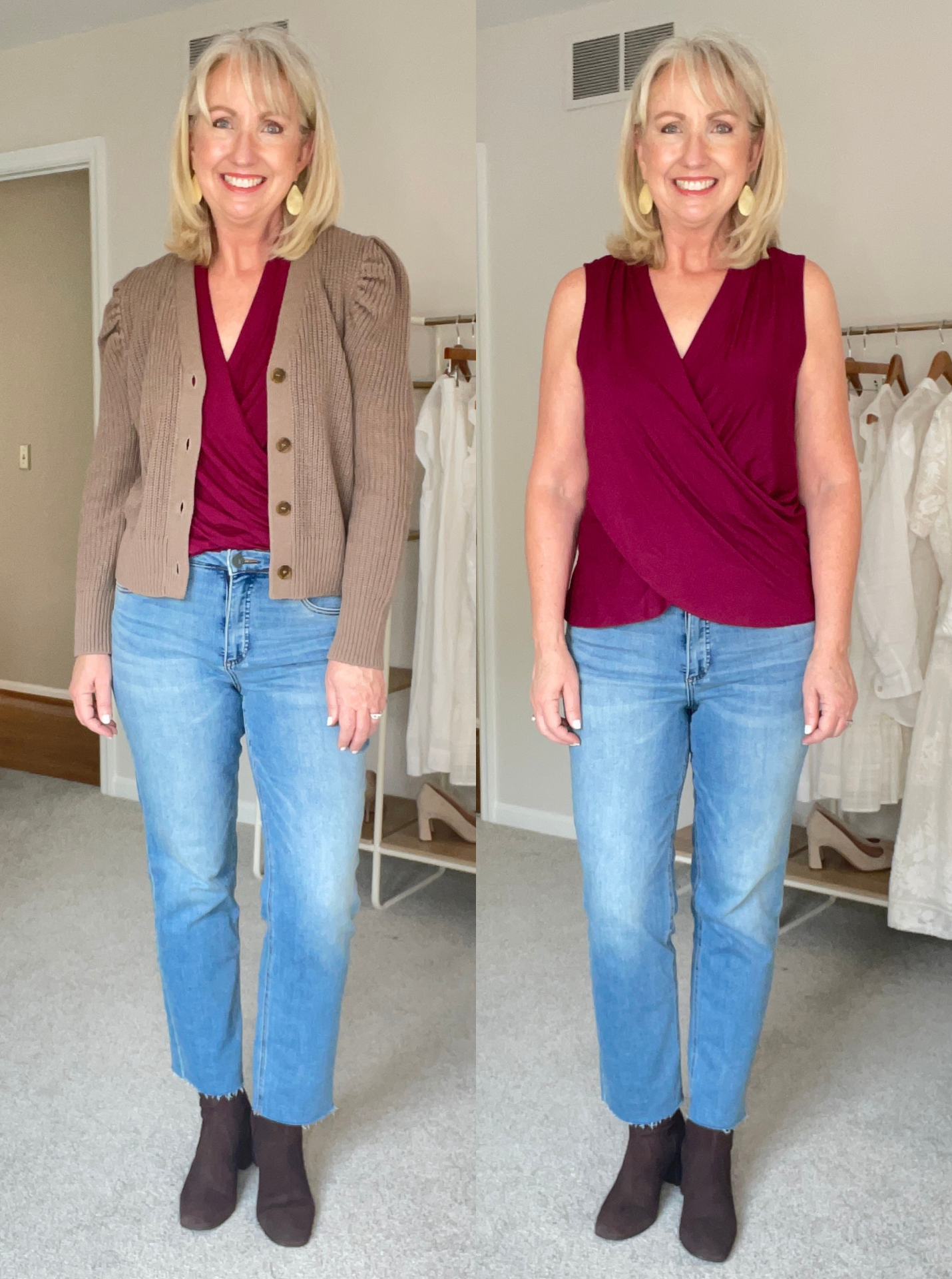 Re Done Jeans and drape top
