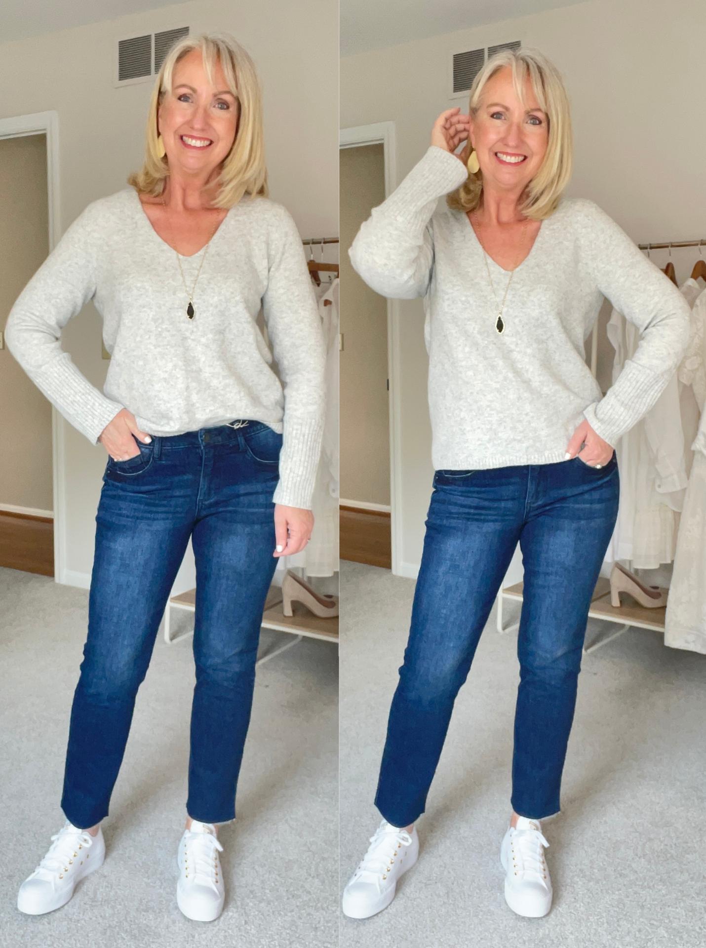 Wit and Wisdom Jeans w Grey Sweater
