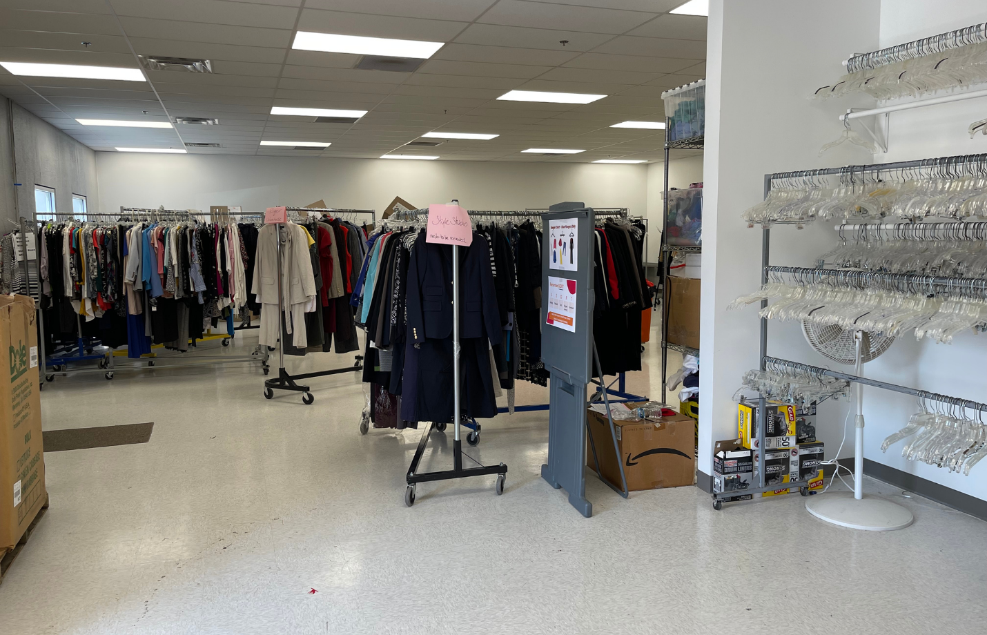 DFS Donations Sorting Area