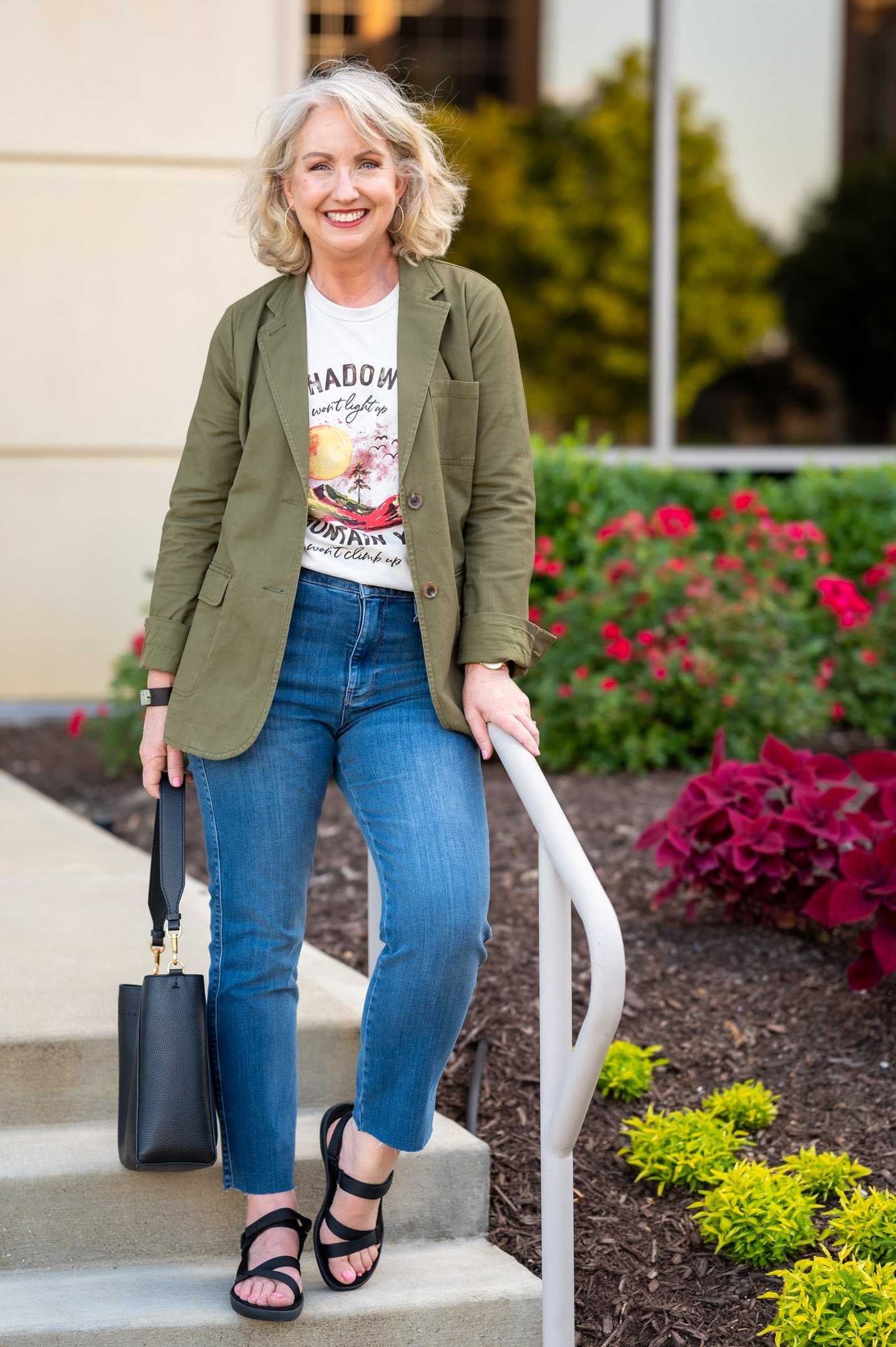 Graphic Tee and Jeans for Early Fall