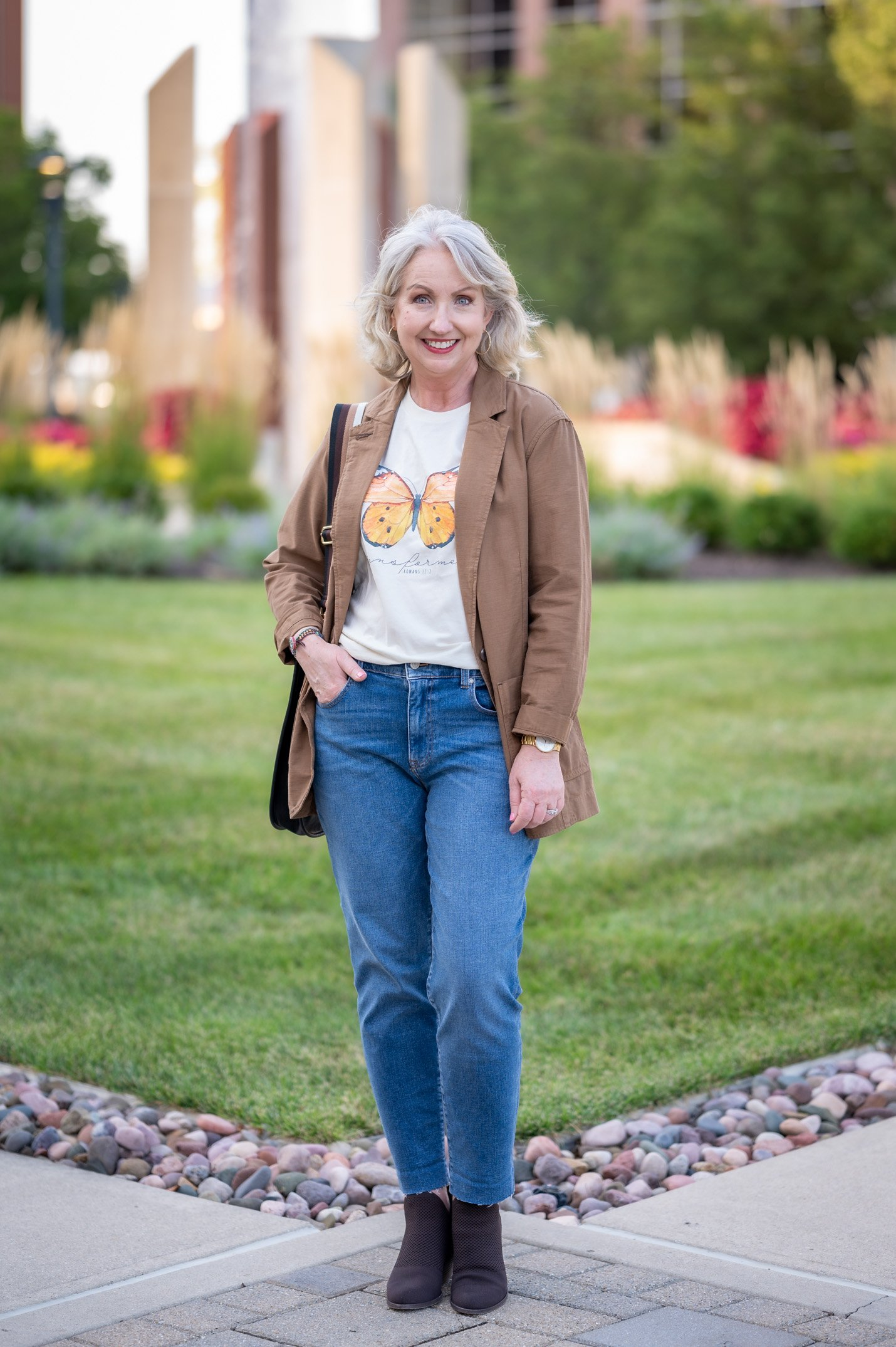 Styling a Graphic Tee with a Casual Blazer