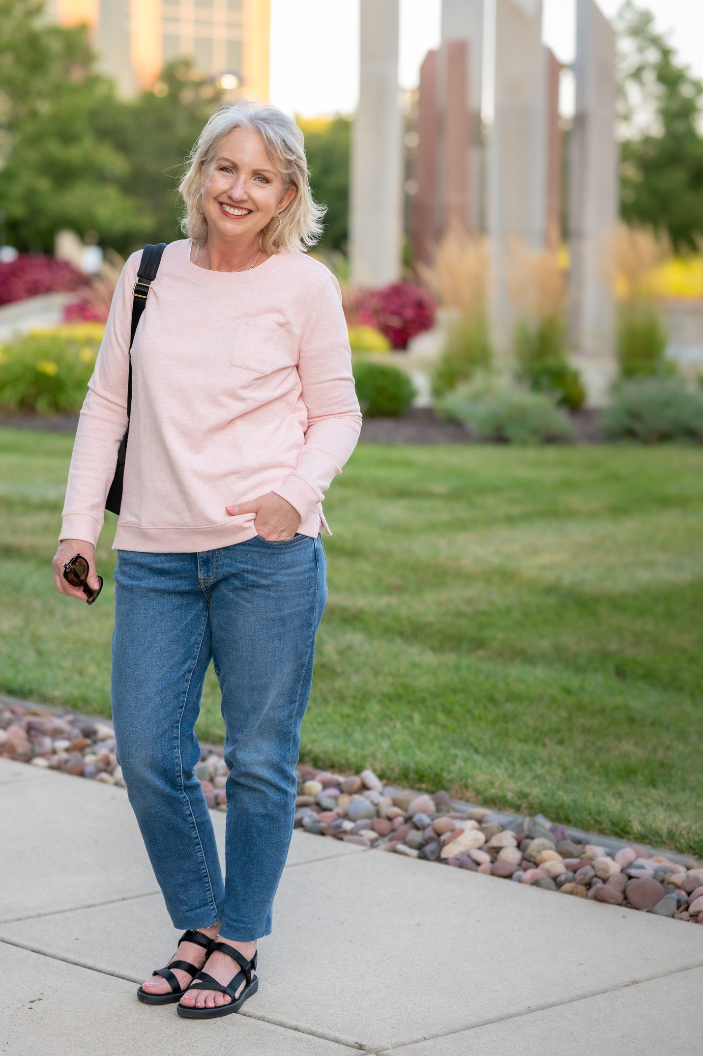 Transition Into Fall with a Pretty Sweatshirt