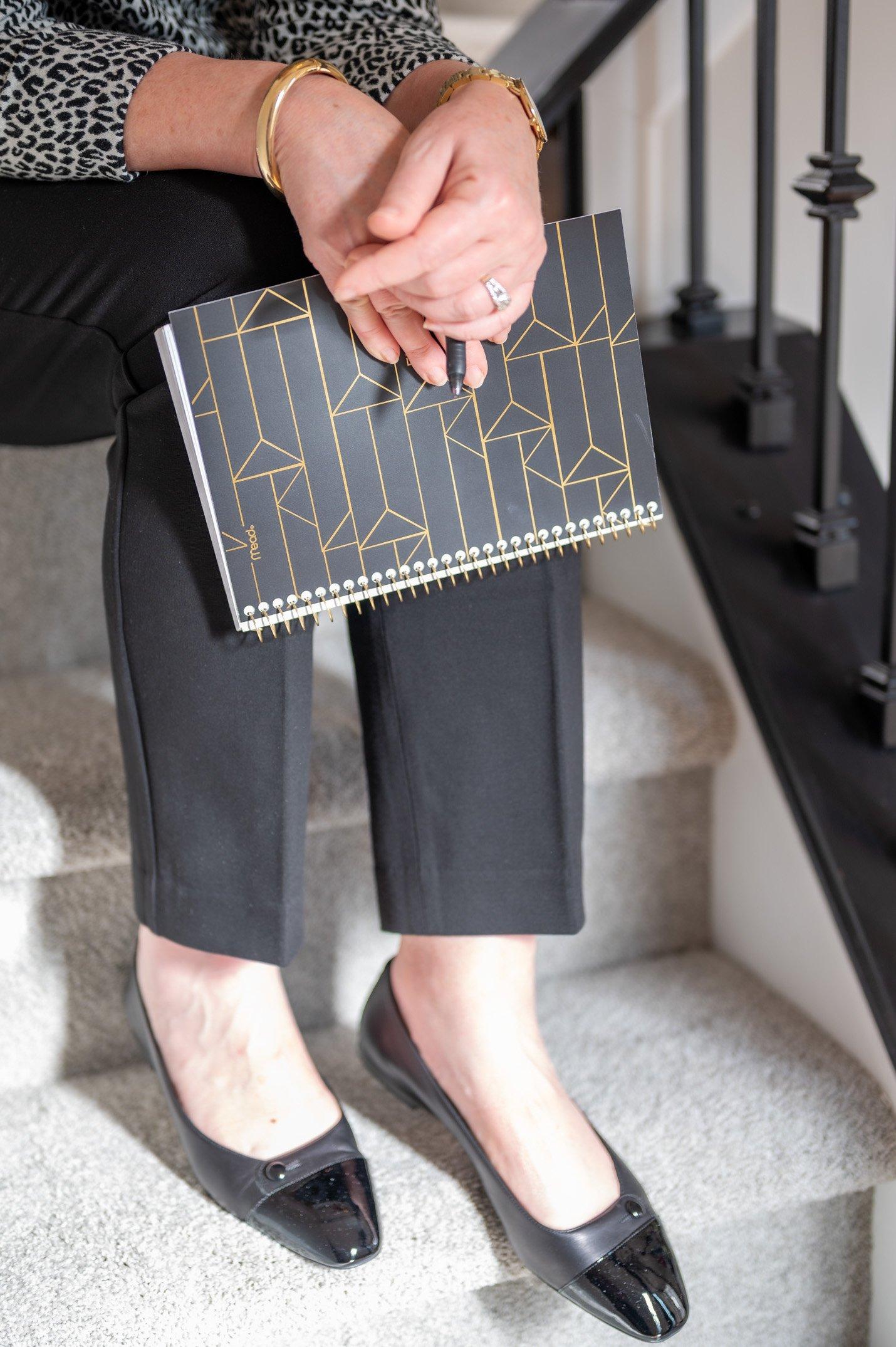 Sarah Flint Sacchetto Flats in Black Nappa Leather