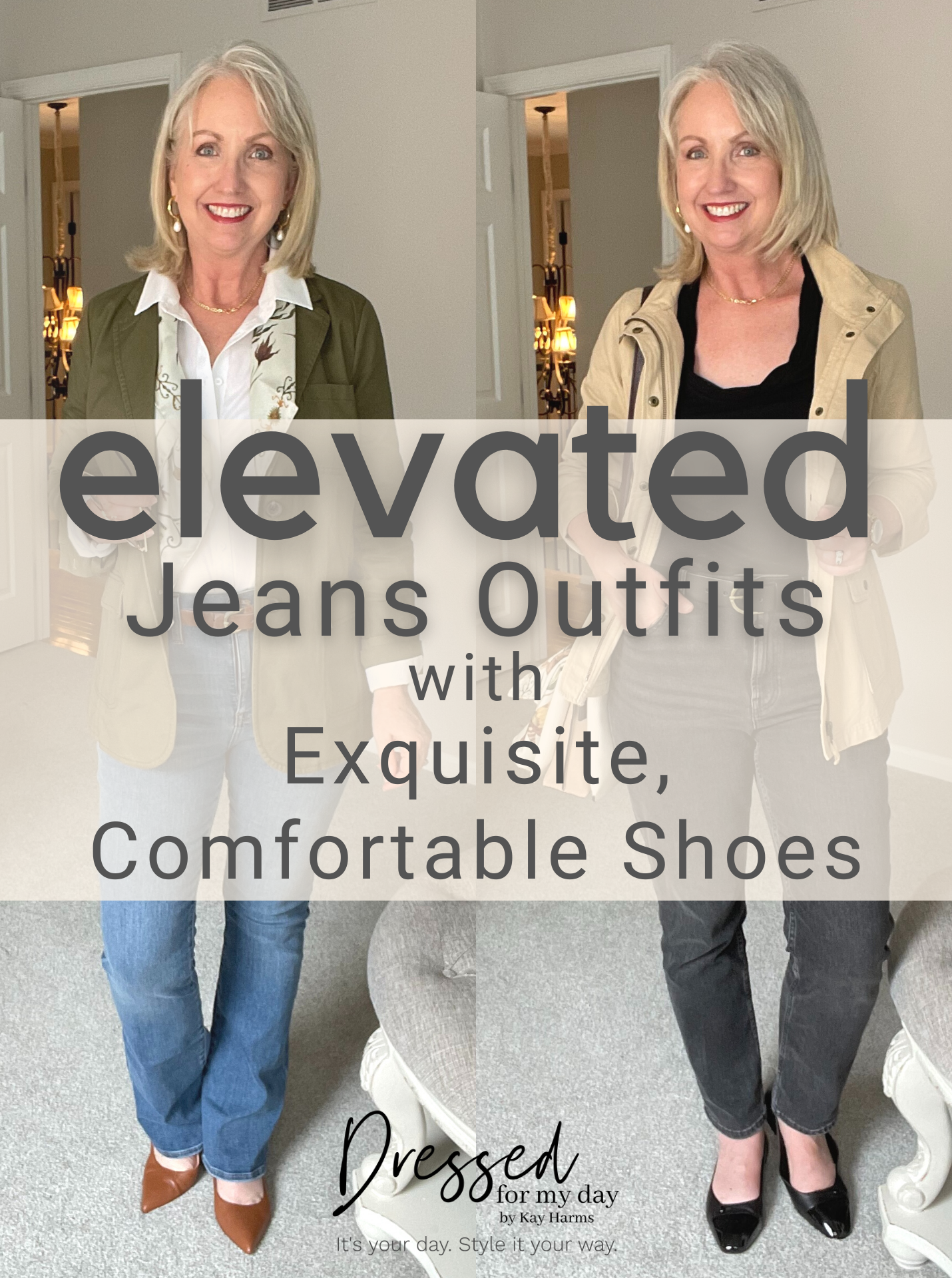 Elevated Jeans Outfits with Exquisite Comfortable Shoes
