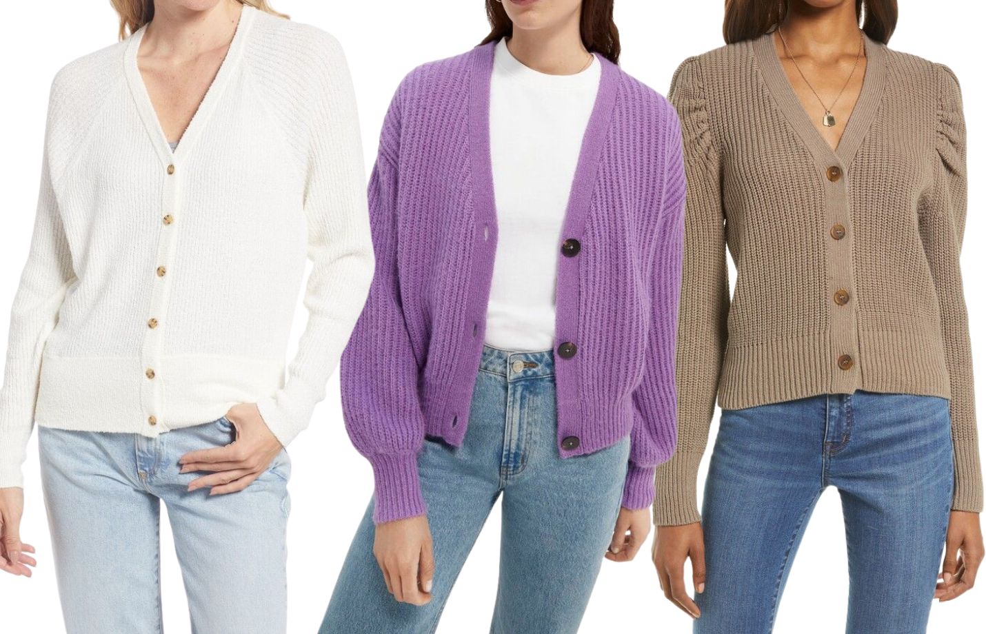 Trending This Fall: Cropped V-Neck Button Up Cardigans